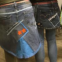 Van oude jeans naar hippe schort