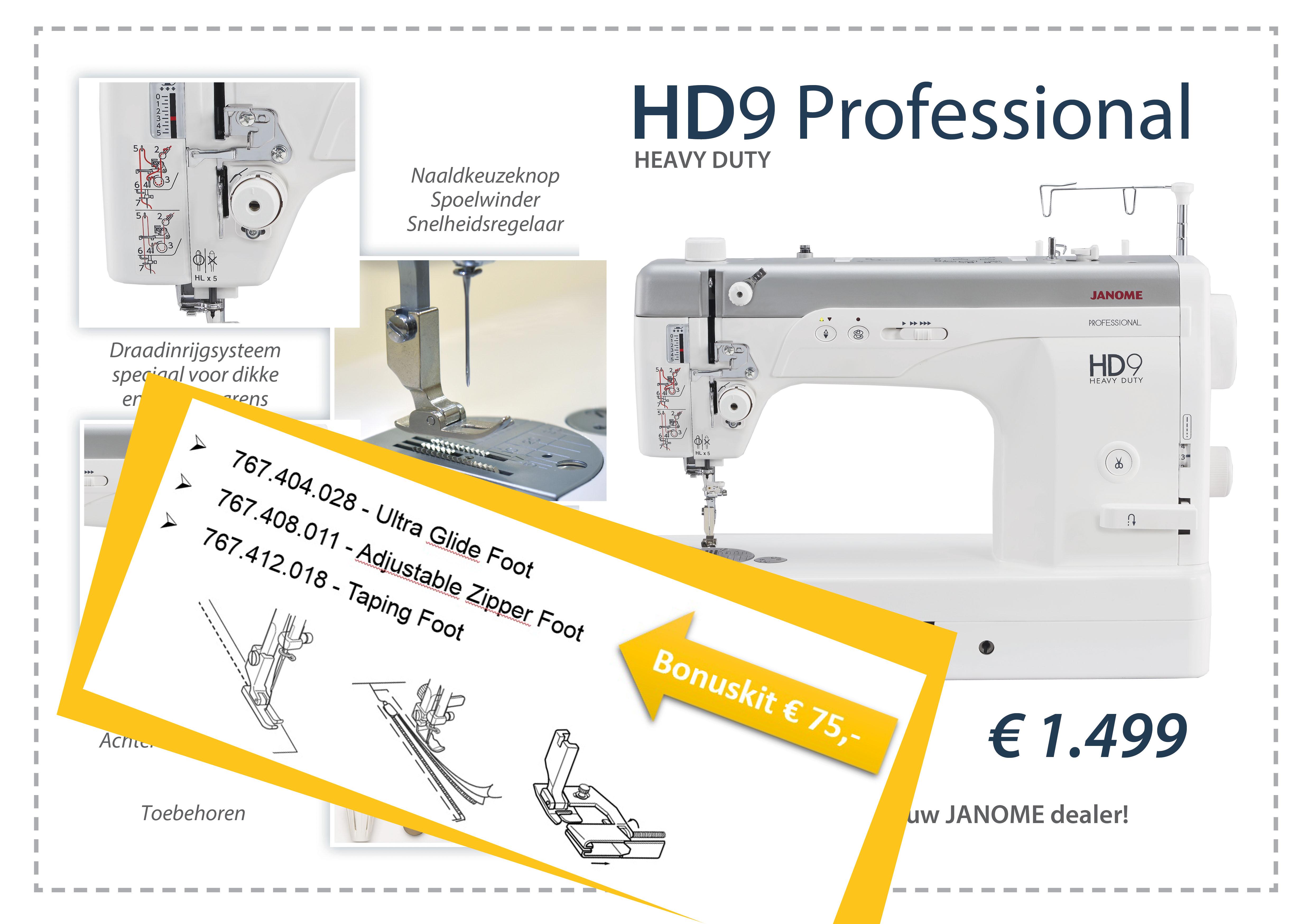HD9 Bonuskit Schuring naaimachines