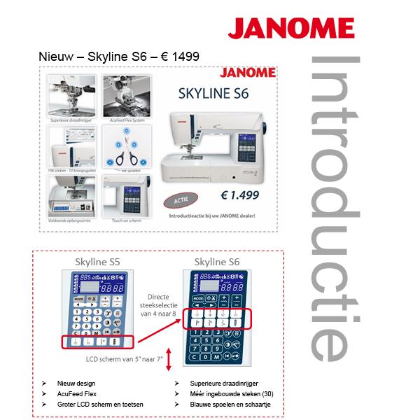 Janome Skyline S6 Schuring naaimachines
