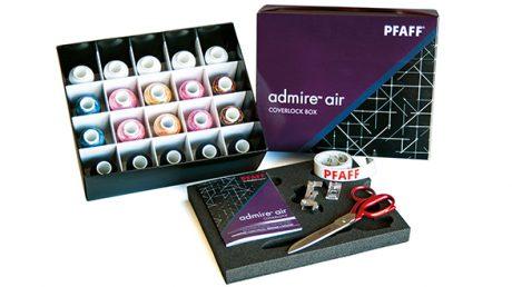 Pfaff admire air 7000 coverlock box cadeau